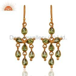 925 Silver Peridot Gemstone Earrings Jewelry