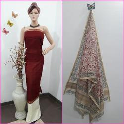 Handloom Cotton Silk Suit