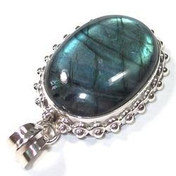 Labradorite Sterling Silver Pendant