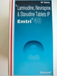 Emtri 40  Lamivudine Nevirapine & Stavudine Tablet