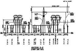 Switchyard Layout Plan & Elevation drawings