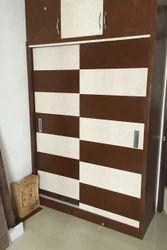 KAKA PVC Plastic Slider Wardrobe 2 Door, Warranty: More Than 5 Year