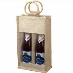 Customized Jute Wine Bottle Bag