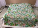 Applique Designer Bed Cover Cotton Cutwork Floral Bed Sheet