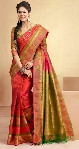 54a66e43127104 Mysore Silk Real Zari Gold Silk Saree