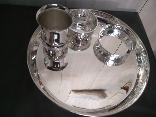 92.5 Silver Dinner Set & 92.5 Silver Dinner Set at Rs 60000 /piece   Silver Dinner Set   ID ...
