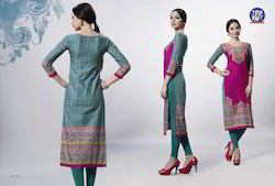 Full Sleeves Cotton Kurti