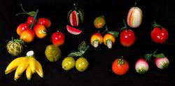Different 3D Wooden Models Of Fruits
