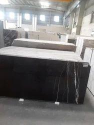 Polished Thick Slab Italian Black Galaxy Granite, For Flooring, Thickness: 20 mm