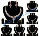 American Diamond Delicate Necklace Set-cz Jewelry