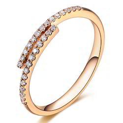 060cts real diamond rose gold engagement ring in 14k gold