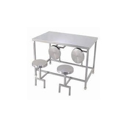SS Four Seater Dining Table Folding Type