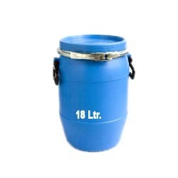 HDPE Blue 18 Ltr. Full Open Mouth Drums