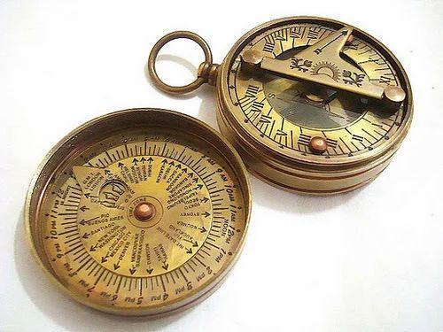 Compass Vintage/ Sun Dial Fine Craftsmanship Maritime