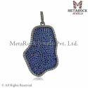 Blue Sapphire Diamond Pendant