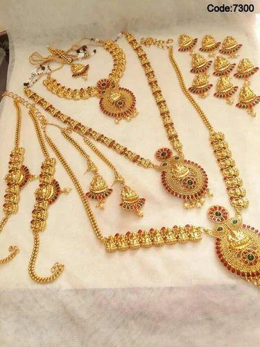 84f6070ff6 Copper Wedding Wear Bridal Jewelry Sets, Rs 5000 /set, Malkhani's ...