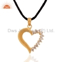 Heart Shape CZ Pendant Jewelry
