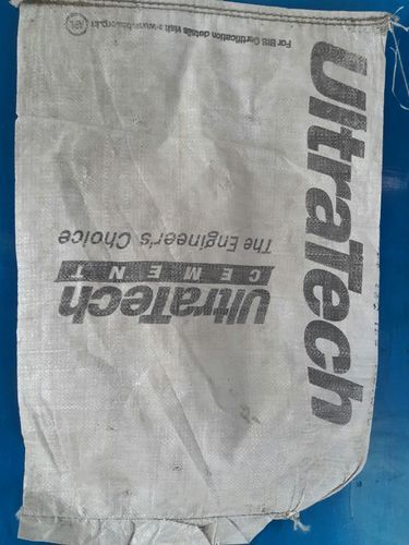 Once Used Cement Bags- Mouth Open