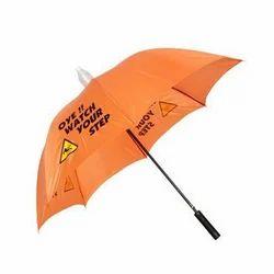 Orange Printed Umbrella