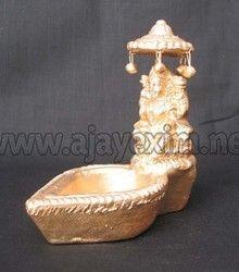 Clay Saraswathi Traditional Diya