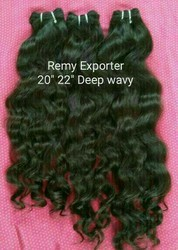 Raw Virgin Human Hair Extensions From Indian Temple