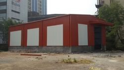 Industrial Colored Steel Sheds