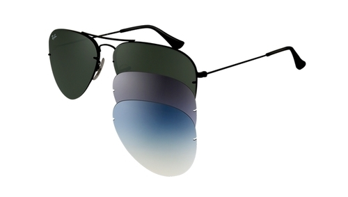 7e5a884855 ... cheapest product image. read more. rayban polarized aviator flip out  sunglass black 225fb 32d28