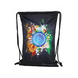 Flag Printed Drawstring Bags