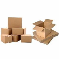 Brown Rectangular Plain Corrugated Box
