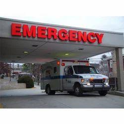 Hospital Emergency Sign Board