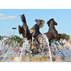 FRP Horse Fountain Sculpture