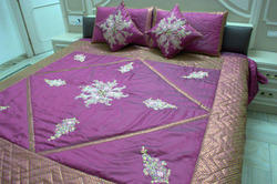 Cotton Embroidered Bed Cover, Size: 100*105