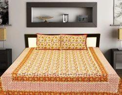 Hand Block Floral Bedsheets