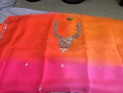 Pure Kota Silk Saree with Gota Patti Work