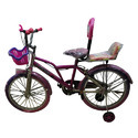 Plastic Kids Racer Bicycle, Foam Padded With Backrest, Basket