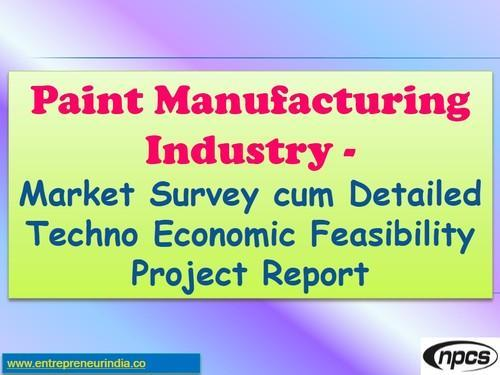 Paint Manufacturing Industry Project Report In Kamla Nagar New