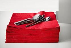 Cotton Red Table Napkin, For Home And Hotel, Size: 40*40CM
