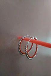 KT jwellery Silk Thread Earring, Shape: Round