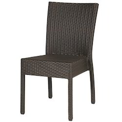 Rattan Dining Chair, Size: 38.5 x 18.5 x 24 inch