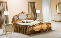 Gold Rococo Bed