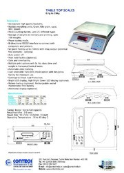 Contech M.S. and S.S. Table Top Electronic Weighing Scale