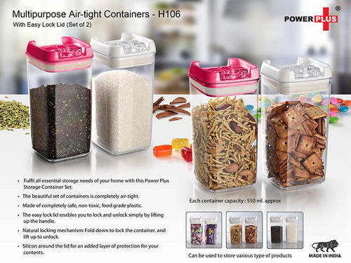Multipurpose Air-Tight Containers With Easy Lock Lid