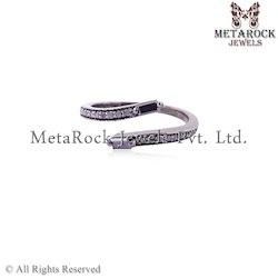 Pave Diamond Baguettes Ring Jewelry