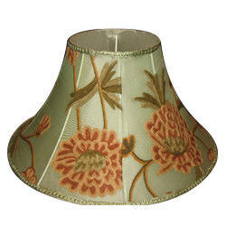 Silk lamp shade resham ki lamp shade manufacturers suppliers crewel lamp shade silk organza aloadofball Choice Image
