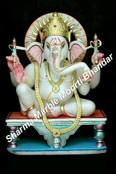 Jaipurcrafts Makrana Marble Marble Choki Ganesha