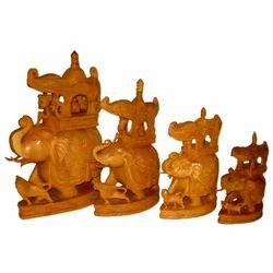 Wooden Carved Ambabari Set