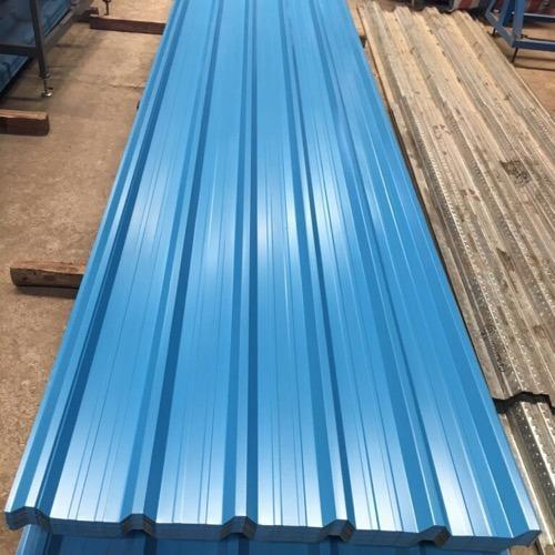 Blue Metal Wall Cladding Sheet, Thickness : 0.30-0.80 mm