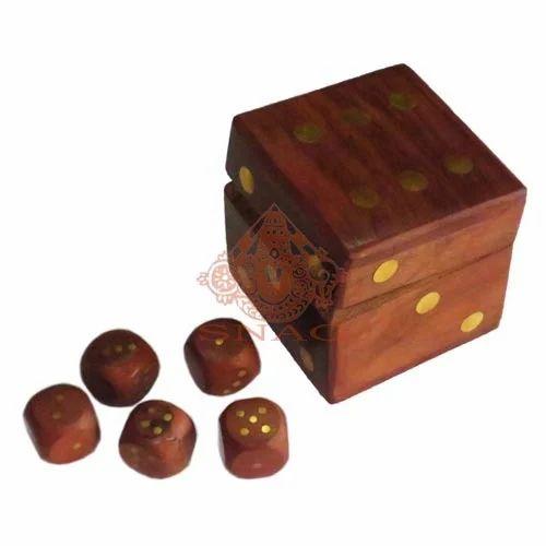 Brown Dark Wooden Dice Box Games Shrinath Art Gallery Id 3937592833