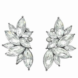 White Crystal Large Studs