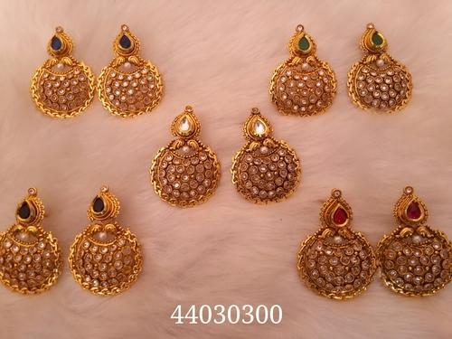 Antique Earrings With Diffe Colour